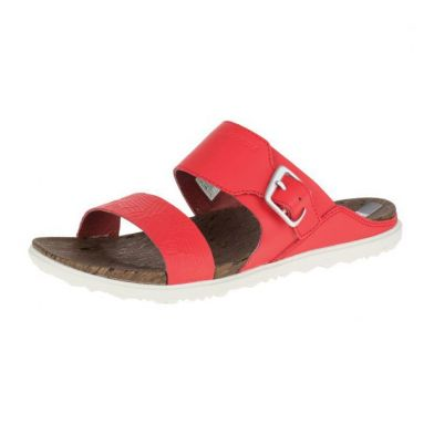 Merrell Around Town Buckle Slide Print, Fiery Red