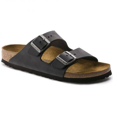 Birkenstock Arizona Regular Black Oiled Sandal
