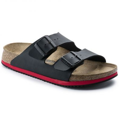 Birkenstock Professional Arizona Narrow Black/Red Sandal