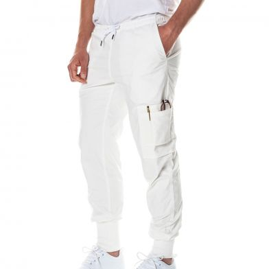 WAW Mens Easy Pant Natural White