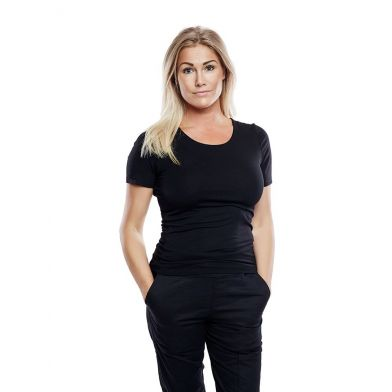WAW Ladies Soft Short Sleeve Black