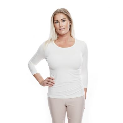WAW Ladies Soft ¾ Sleeve Natural White
