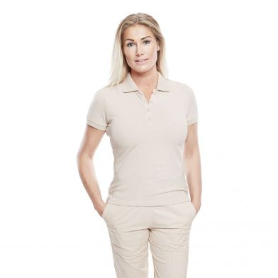 WAW Ladies Polo Shirt Dusty Pink