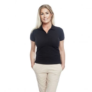 WAW Ladies Polo Shirt Black