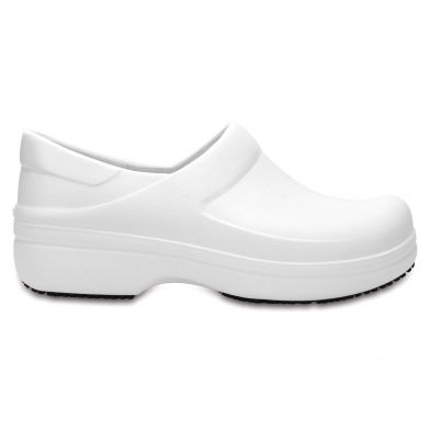 Crocs Womens Neria Pro White Clogs