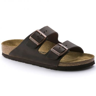 Birkenstock Arizona Narrow Oiled Leather Habana Sandal