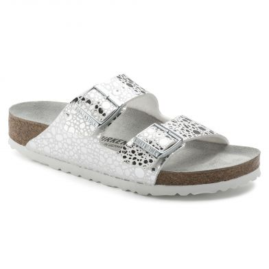 Birkenstock Arizona Narrow Metallic Stones Silver Grey Sandal