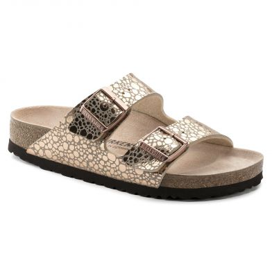 Birkenstock Arizona Narrow Metallic Stones Copper Sandal