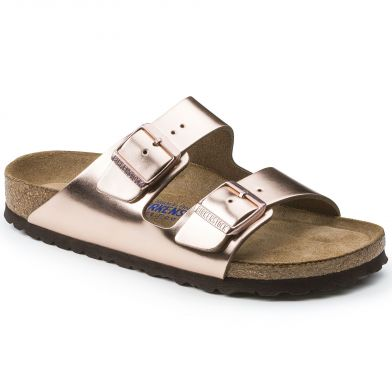 Birkenstock Arizona Narrow Metallic Copper Sandal