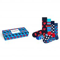 Happy Socks Navy Gift box 4-pack