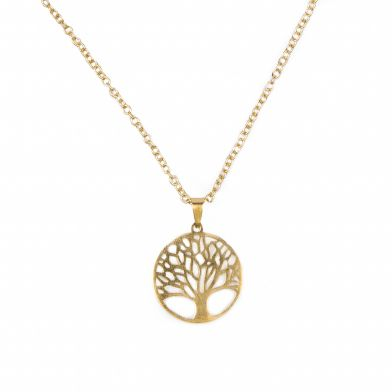 Tree Of Life Gull Halskjede