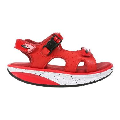 MBT Kisumu 3S Dynamic Red Sandal Dame