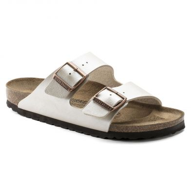 Birkenstock Arizona Narrow Graceful Pearl White Sandal